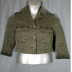 Anthropologie Hei Hei 4 Cropped Military Jacket